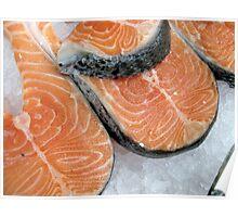 Delicious fresh salmon Poster