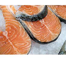 Delicious fresh salmon Photographic Print