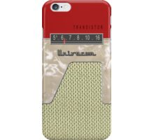 Vintage Transistor Radio - Red iPhone Case/Skin