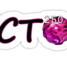 I'm Rich! Black Letters, Pink Outline Sticker