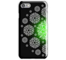 Green and White Snowflake 4s & 4 iphone case iPhone Case/Skin