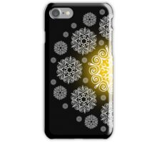 Gold and White Snowflake iphone 4s & 4 case iPhone Case/Skin