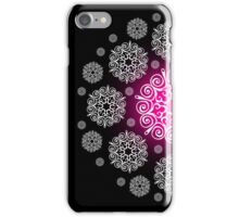 Pink and White Snowflake 4s & 4 iphone case iPhone Case/Skin