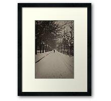Snowy Ottawa - B/W - Ottawa, Ontario Framed Print