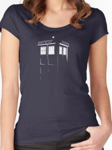 Tardis Outline Women's Fitted Scoop T-Shirt