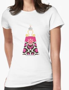 The Katy Bag / Fuchsia Fantasy Leopard Womens Fitted T-Shirt