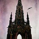 Scott Monument Edinburgh Scotland by Den McKervey