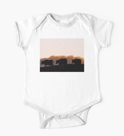 Sunrise Cows - Dairy Southland One Piece - Short Sleeve