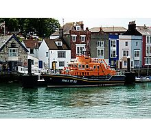 R L N I  Weymouth Lifeboat Photographic Print
