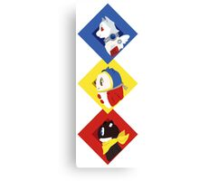 Persona Mascots Canvas Print