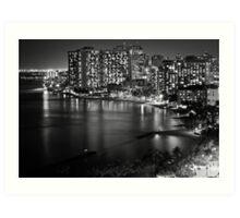 2012 Waikiki Beach, Honolulu HI | B&W Art Print