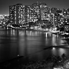 2012 Waikiki Beach, Honolulu HI | B&W by RedDash