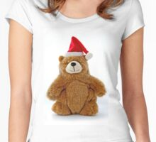Christmas Teddy Bear Women's Fitted Scoop T-Shirt