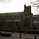 Carlisle Cathedral (Black&White) by Lou Wilson