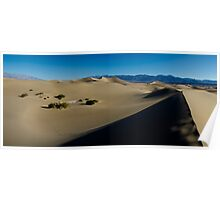 Mesquite Sand Dunes Panorama - Death Valley National Park, California Poster