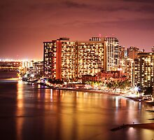 2012 Waikiki Beach, Honolulu HI | Night by RedDash