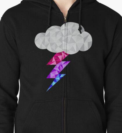 Bisexual Storm Cloud Zipped Hoodie