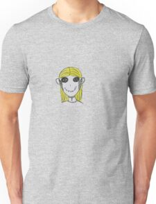 Creepy Blond Doll Tee  Unisex T-Shirt