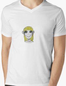 Creepy Blond Doll Tee  Mens V-Neck T-Shirt