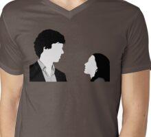 Sherlock And Irene Mens V-Neck T-Shirt