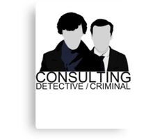 Consulting Detective/Criminal Canvas Print