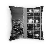 2012 Waikiki Beach, Honolulu HI | Night Living Throw Pillow