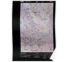 USGS Topo Map Washington State WA Fortson 20110425 TM Inverted Poster