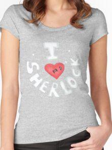 I <3 Sherlock Women's Fitted Scoop T-Shirt