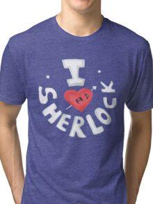 I <3 Sherlock Tri-blend T-Shirt