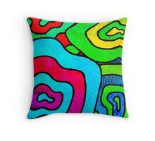 BINGE - Psychedelic artwork Throw Pillow