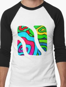 BINGE - Psychedelic artwork Men's Baseball ¾ T-Shirt