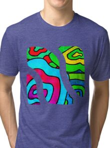 BINGE - Psychedelic artwork Tri-blend T-Shirt