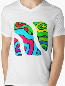 BINGE - Psychedelic artwork Mens V-Neck T-Shirt