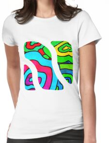 BINGE - Psychedelic artwork Womens Fitted T-Shirt