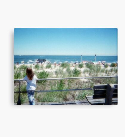 The Little Dreamer At The Jersey Shore Canvas Print