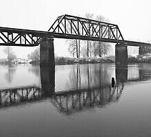 Railroad Bridge over the Snohomish River by Jim Stiles