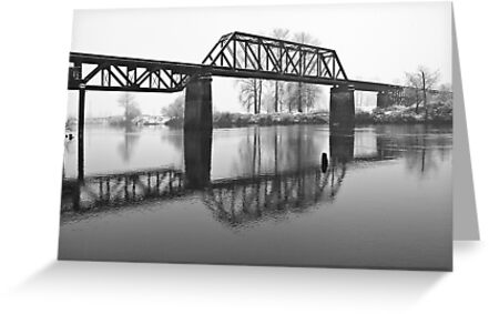 Railroad Bridge over the Snohomish River by Jim Stiles