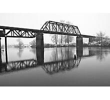 Railroad Bridge over the Snohomish River Photographic Print