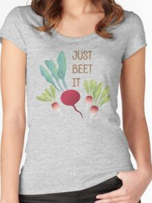 Just Beet It! Women's Fitted Scoop T-Shirt
