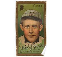 Benjamin K Edwards Collection John J Evers Chicago Cubs baseball card portrait Poster