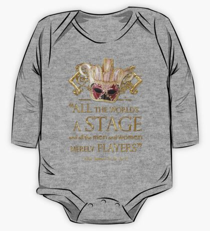 Shakespeare As You Like It Stage Quote One Piece - Long Sleeve