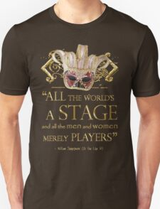 Shakespeare As You Like It Stage Quote Unisex T-Shirt