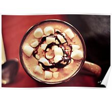 Cocoa with marshmallows Poster