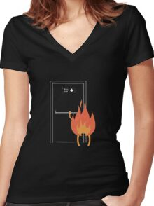 Fire exit Women's Fitted V-Neck T-Shirt