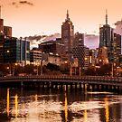 Melbourne South Bank Sunrise by Matt Simner