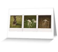 Tape dog, Tapedog triptych 1, oh glory  Greeting Card