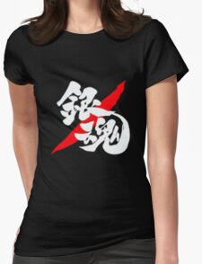 Gintama Logo Red And White Anime Cosplay Japan T Shirt Womens Fitted T-Shirt
