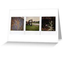 Tape dog, Tapedog Triptych 3, park fun Greeting Card