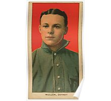 Benjamin K Edwards Collection George Mullin Detroit Tigers baseball card portrait 001 Poster