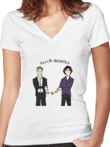 Patch-buddies Women's Fitted V-Neck T-Shirt